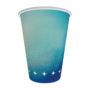 copo de papel azul turquesa