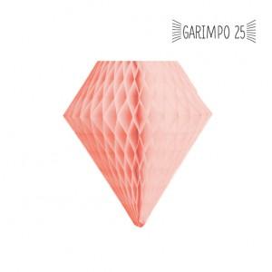 Diamante de Papel de Seda Salmão