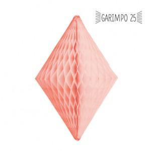 Losango de Papel de Seda Salmão 30cm