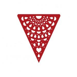 Bandeirinha Rendada Vermelha Unidade