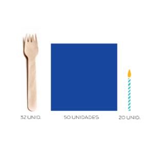 kit festa Azul marinho