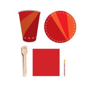 kit festa vermelho