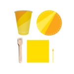 kit festa amarelo
