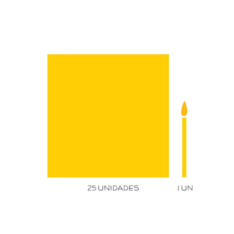 kit parabéns descartável amarelo
