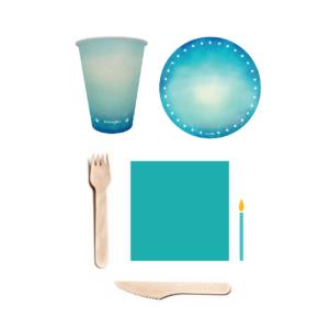 kit parabéns azul turquesa 1
