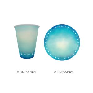 kit parabéns azul turquesa
