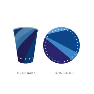 kit parabéns azul marinho