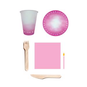 kit parabéns rosa