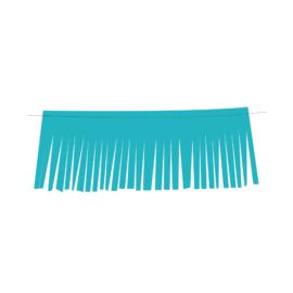 bandeirola franja turquesa