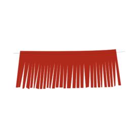 bandeira franja vermelho