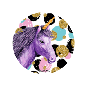 botton parangole unicornio